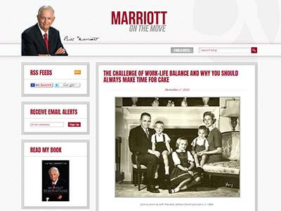 Corporate Blogging - Mariott
